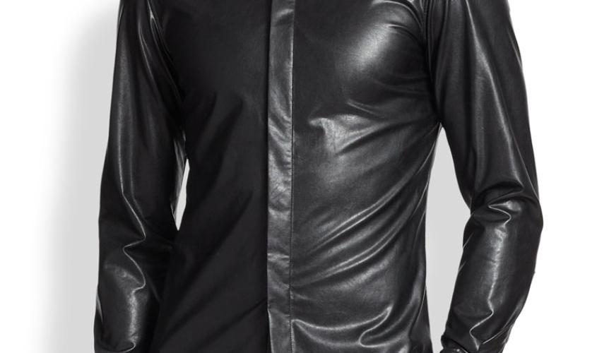 Мужские рубашки кожаные пошив на заказ в Ателье по коже Чебоксары - 4