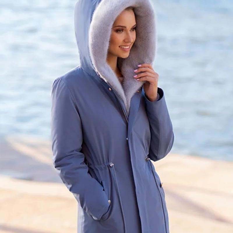 Куртка зимняя женская норковая парка от Ателье по коже Чебоксары – фото 1